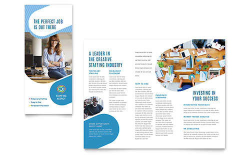 Employment Agency Tri Fold Brochure Template
