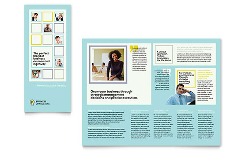 Business Consultants Tri Fold Brochure Template
