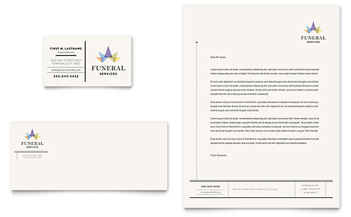 Funeral Services Business Card & Letterhead Template