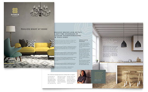 interior design brochure - indesign templates brochures flyers newsletters postcards