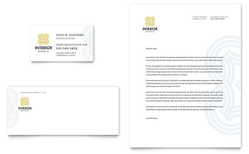 Interior Design Letterhead Template Design