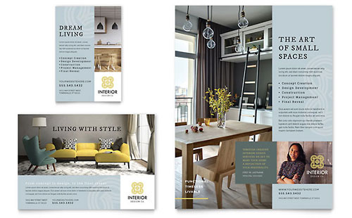 Interior Design Print Ad Template Design