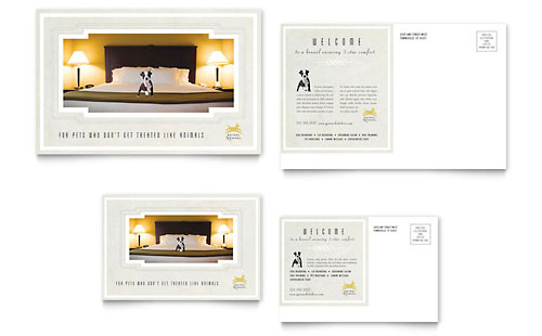 Pet Hotel & Spa Postcard Template