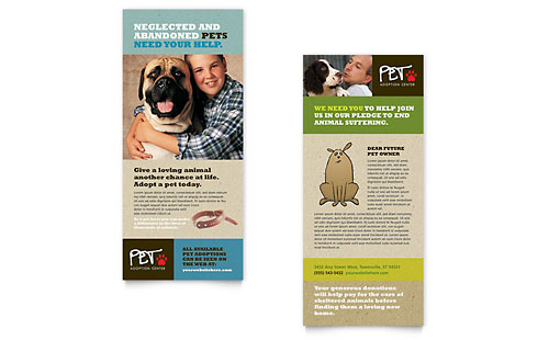 Animal Shelter & Pet Adoption Rack Card Template