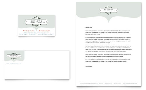 Realtor & Realty Agency Business Card & Letterhead Template