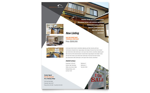 Contemporary & Modern Real Estate Flyer Template