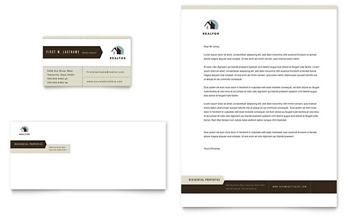 Residential Realtor - Business Card & Letterhead Template