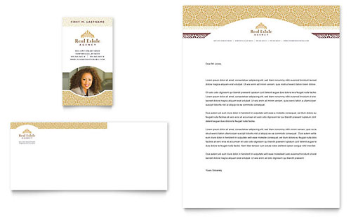 Luxury Real Estate Business Card & Letterhead Template