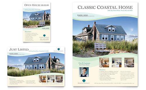 Coastal Real Estate Flyer & Ad Template
