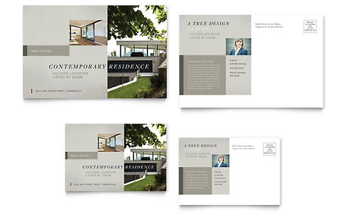 Postcard Templates InDesign Illustrator Publisher Word – Free Postcard Templates for Word