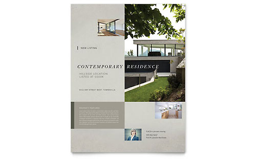 Contemporary Residence Flyer Template