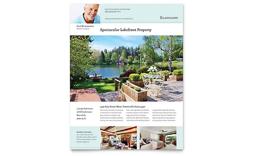 Lakefront Property - Flyer Template