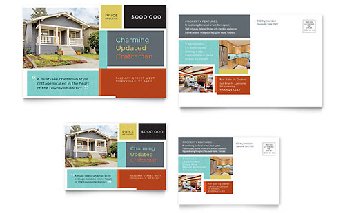 Craftsman Home Postcard Template