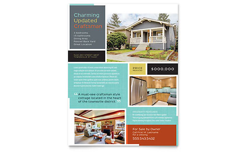 Craftsman Home Flyer Template