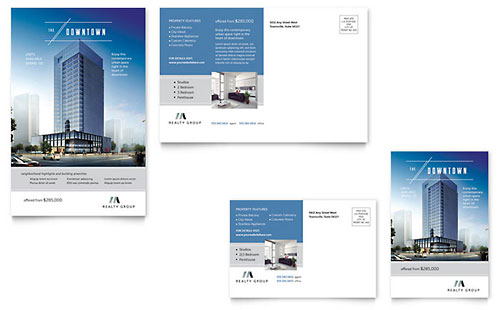 Downtown Apartment - Postcard Template
