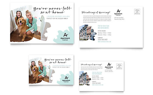Apartment Postcard Template