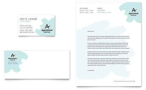 Apartment - Business Card & Letterhead Template