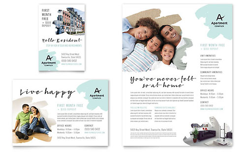 Apartment - Print Ad Template