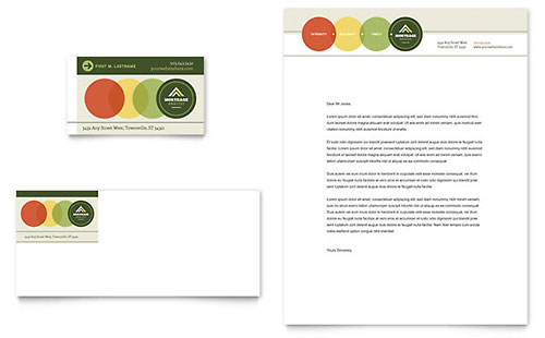 Mortgage Broker - Business Card & Letterhead Template