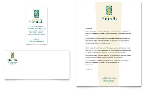 Christian Church - Business Card & Letterhead Template