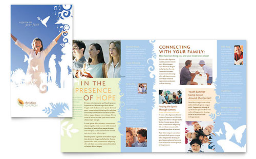 Christian Church Brochure Template