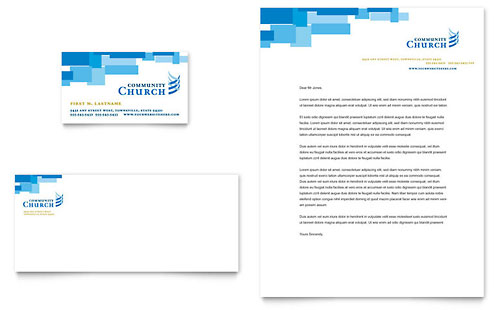 Community Church Business Card & Letterhead Template