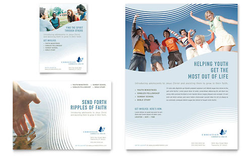 Christian Ministry Flyer & Ad Template