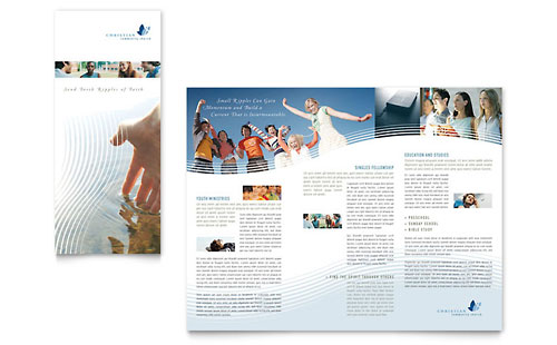 youth ministry tri fold brochure templates religious organizations. Black Bedroom Furniture Sets. Home Design Ideas