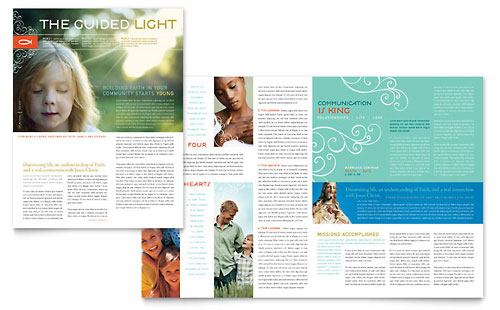 Christian Church Religious Newsletter Template