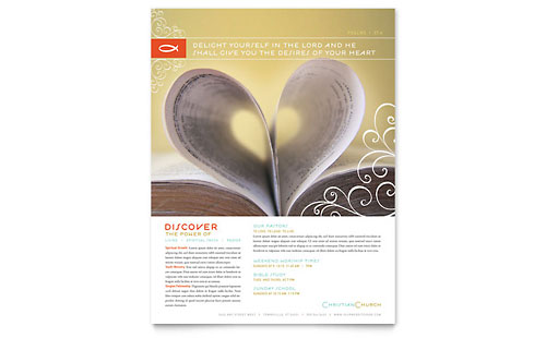 Christian Church Religious Flyer Template