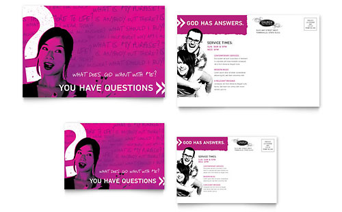 Church Outreach Ministries Postcard Template