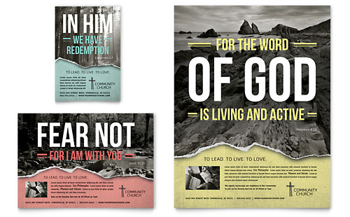 Bible Church Flyer & Ad Template