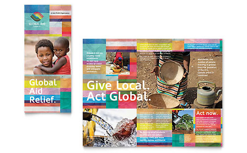 Humanitarian Aid Organization Pages Brochure Template