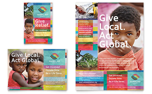 Humanitarian Aid Organization - Flyer & Ad Template