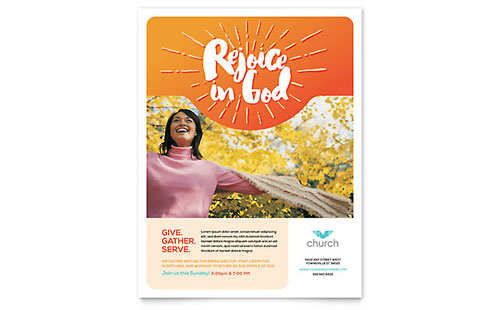 Church Leaflet Template