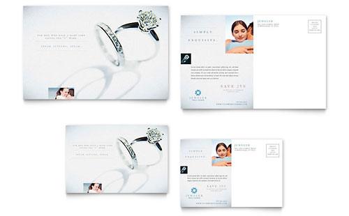 Jeweler & Jewelry Store Postcard Template