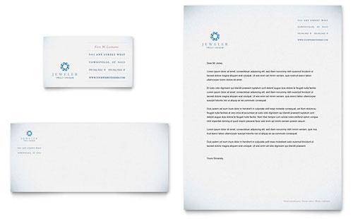 Jeweler & Jewelry Store Business Card & Letterhead Template