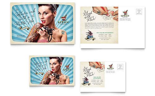 Body Art & Tattoo Artist - Postcard Template