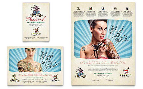 Body Art & Tattoo Artist Flyer & Ad Template