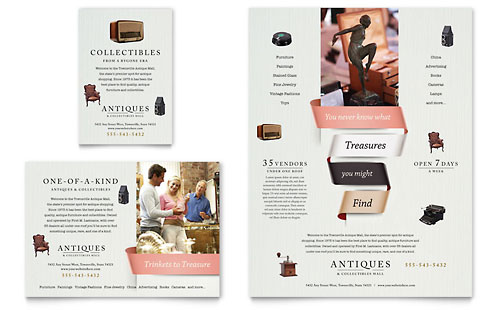 Antique Mall Flyer & Ad Template