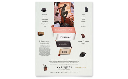 Antique Mall Flyer Template