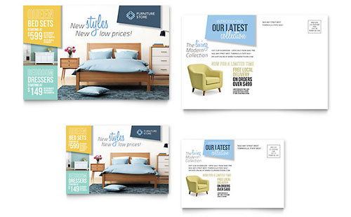 Home Furnishings Postcard Template