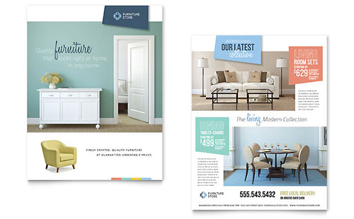 Home Furnishings Sales Sheet Template