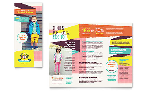 Homeowners Association Brochure Template Design – Pamphlet Layout