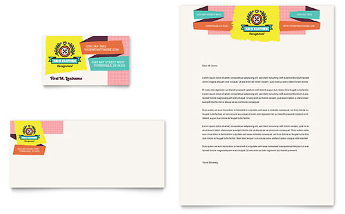 Kids Consignment Shop - Business Card & Letterhead Template