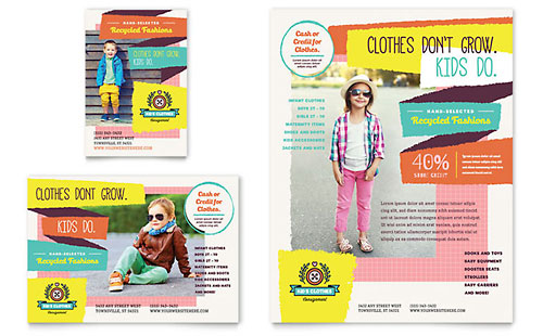 magazine ad template word