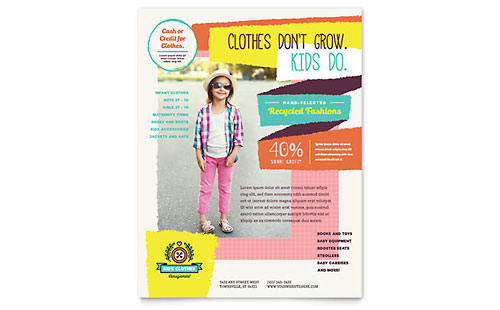 Kids Consignment Shop Flyer Template