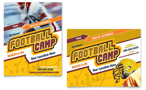 Football Sports Camp Poster Template