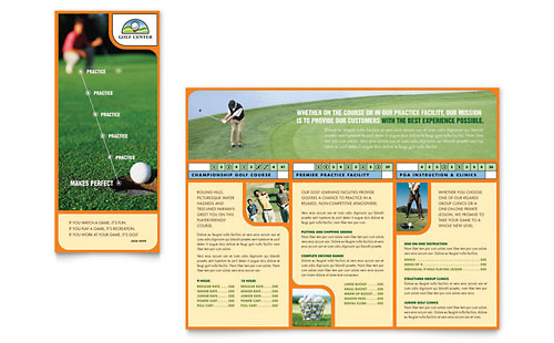 Golf Instructor & Course Brochure Template