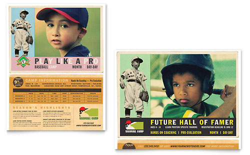Baseball Sports Camp Poster Template